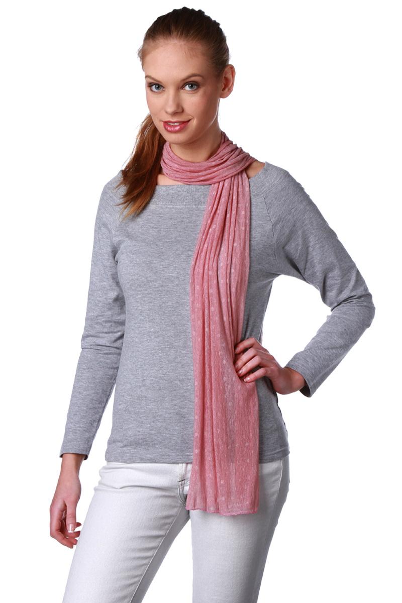 foulard à pois 40 x 150 cm femme