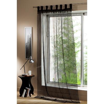 voilage pattes pr t poser en maille ajour e grandes. Black Bedroom Furniture Sets. Home Design Ideas