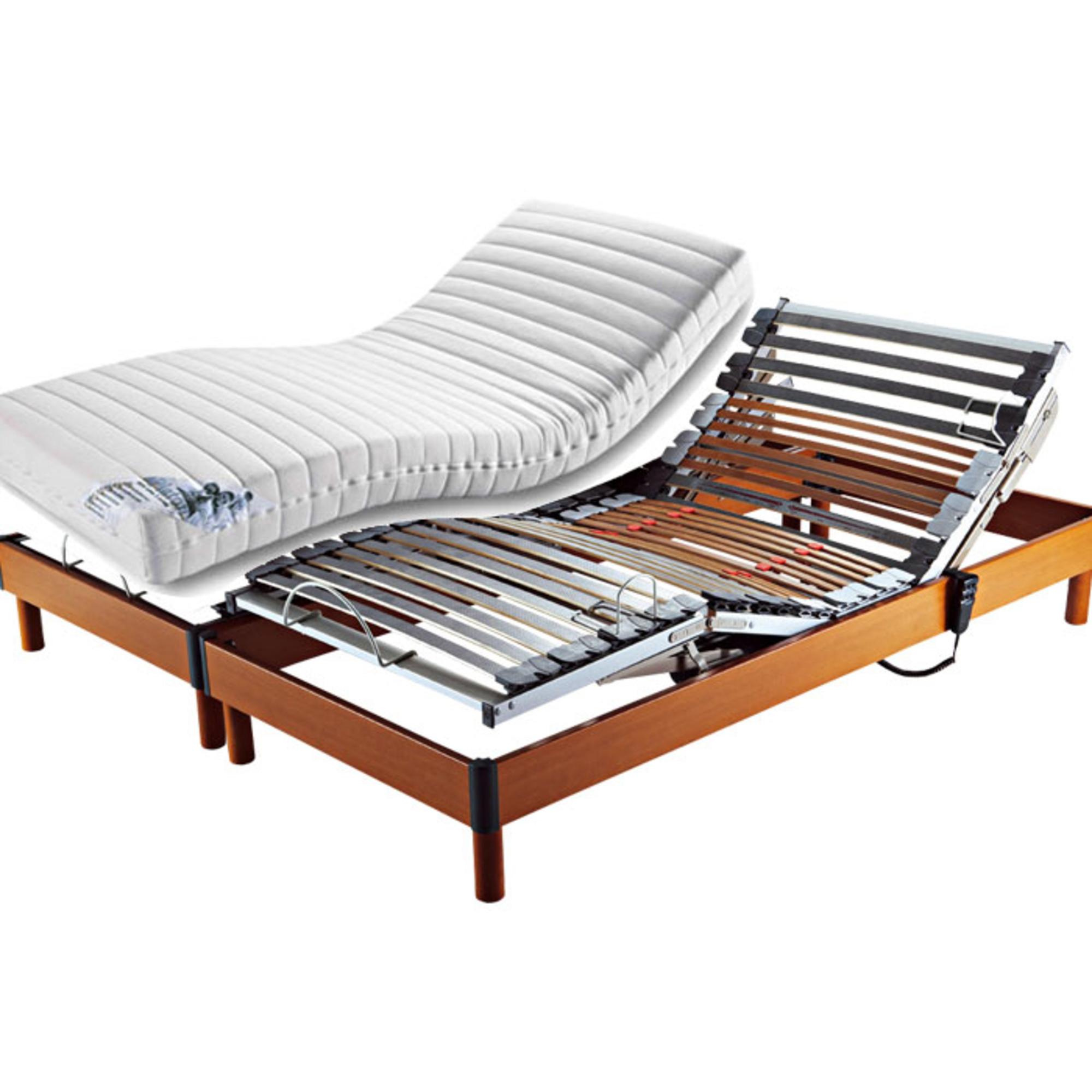 ensemble matelas latex accueil luxe soutien ferme sommier relaxation 2 x 70 x 190. Black Bedroom Furniture Sets. Home Design Ideas