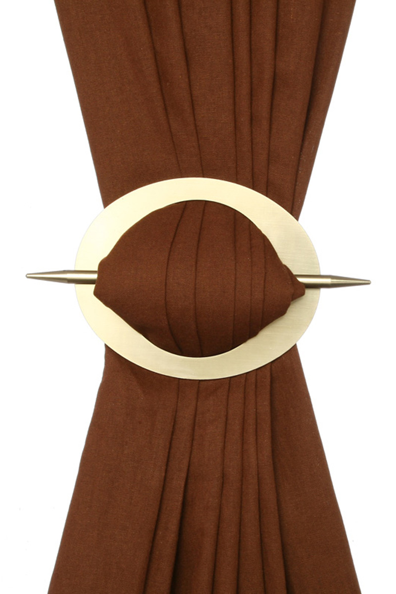 embrasse broche rideaux dor diam 13 5 cm broche 16 5 cm acheter ce produit au meilleur prix. Black Bedroom Furniture Sets. Home Design Ideas