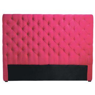 t te de lit 140 cm fuchsia chesterfield acheter ce produit au meilleur prix. Black Bedroom Furniture Sets. Home Design Ideas