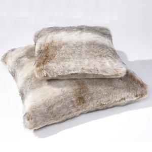 housse de coussin fausse fourrure roudoudou imitation loutre 2 tailles acheter ce produit au. Black Bedroom Furniture Sets. Home Design Ideas