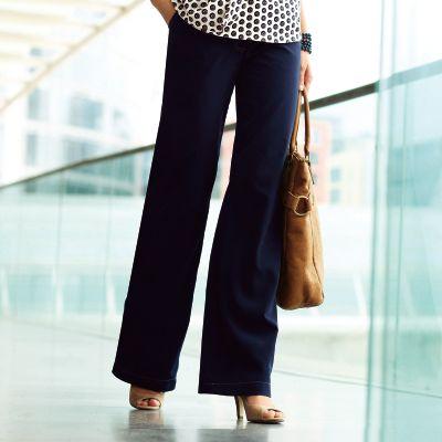 pantalon large fluide grande taille femme votre mode du 38. Black Bedroom Furniture Sets. Home Design Ideas