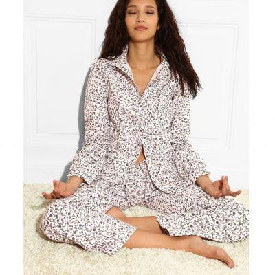 pyjama en coton femme du 34 36 au 46 48 acheter ce produit au meilleur prix. Black Bedroom Furniture Sets. Home Design Ideas