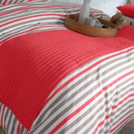chemin de lit matelass piquage lignes en 5 coloris acheter ce produit au meilleur prix. Black Bedroom Furniture Sets. Home Design Ideas