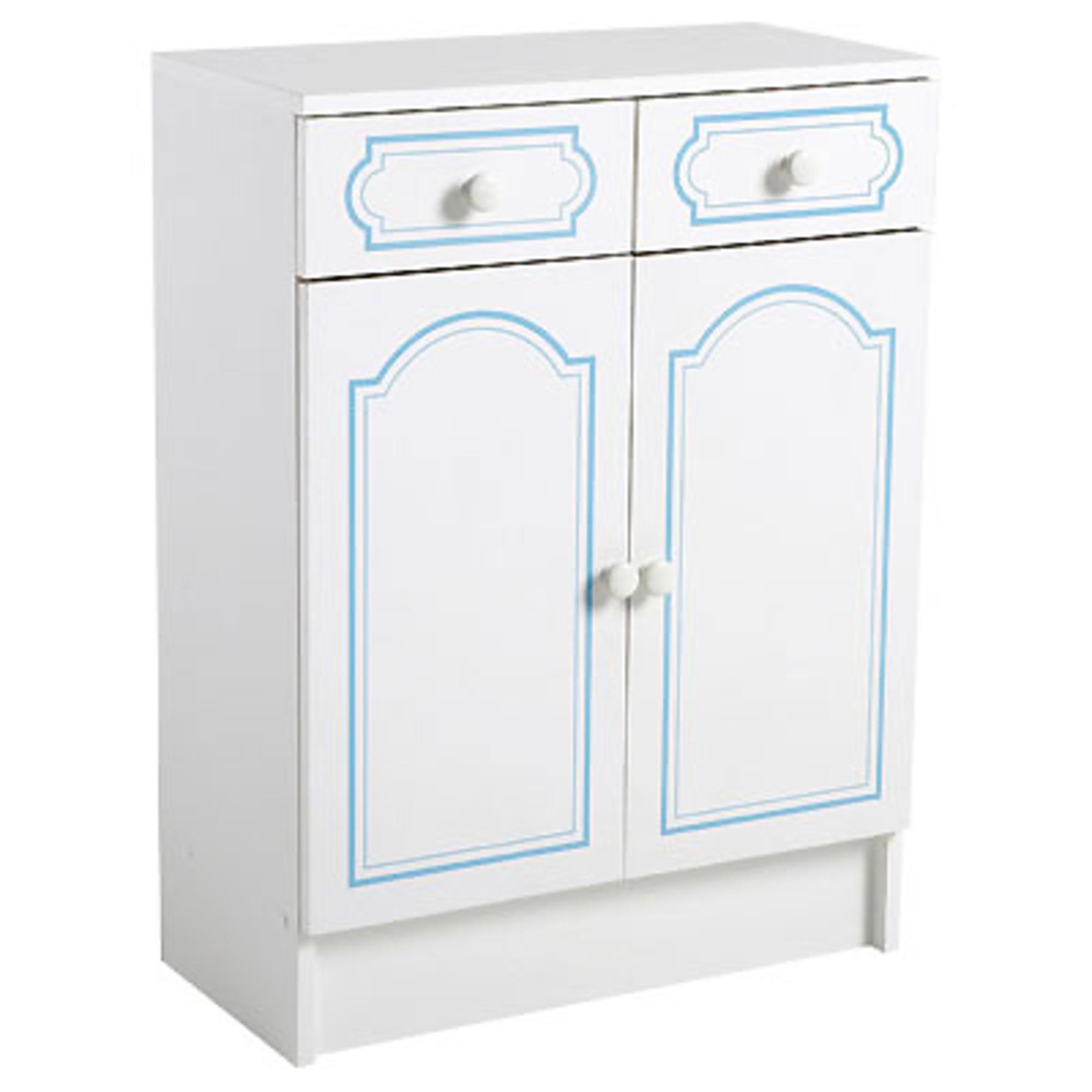 Meuble bas 2 portes 2 tiroirs salle de bain belle ile for Meuble bas salle de bain