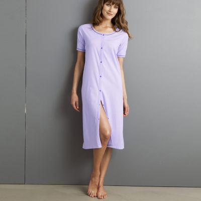 chemise de nuit femme coton du 38 au 56 acheter ce produit au meilleur prix. Black Bedroom Furniture Sets. Home Design Ideas