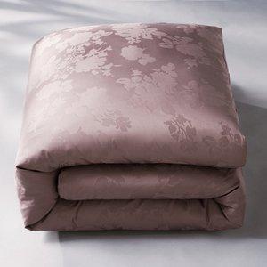 housse de couette satin de coton damass fleur taupe acheter ce produit au meilleur prix. Black Bedroom Furniture Sets. Home Design Ideas
