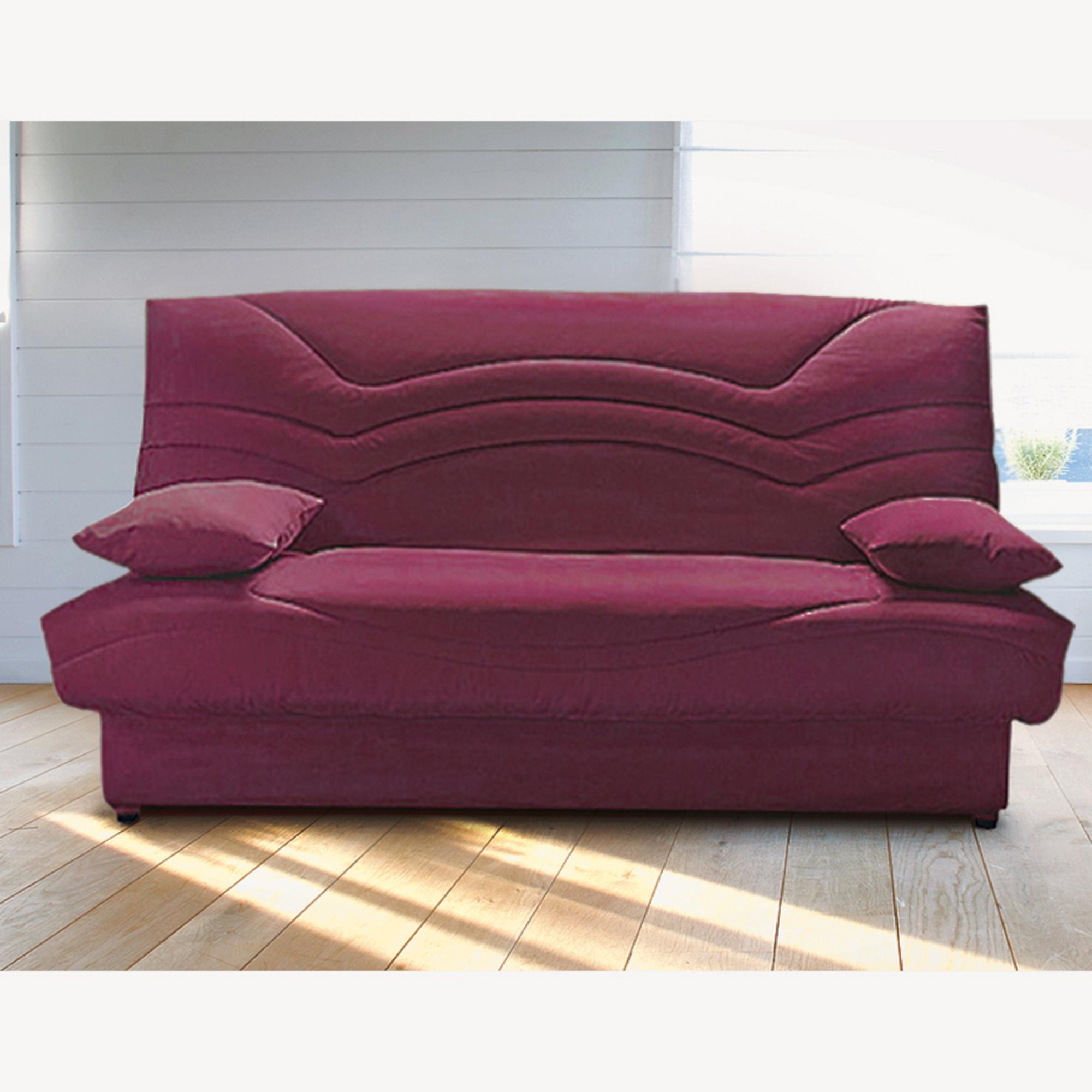 banquette clic clac 140 cm confort luxe bultex bermudes prune anniversaire 40 ans acheter. Black Bedroom Furniture Sets. Home Design Ideas