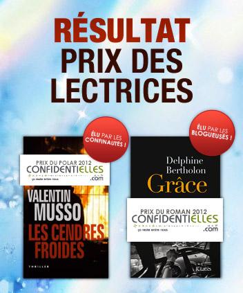Prix des lectrices Confidentielles 2012 : les résultats  - Culture et Loisirs
