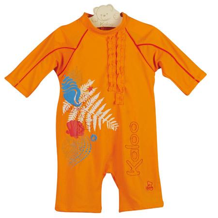 combinaison de plage fille 24 mois orange acheter ce. Black Bedroom Furniture Sets. Home Design Ideas