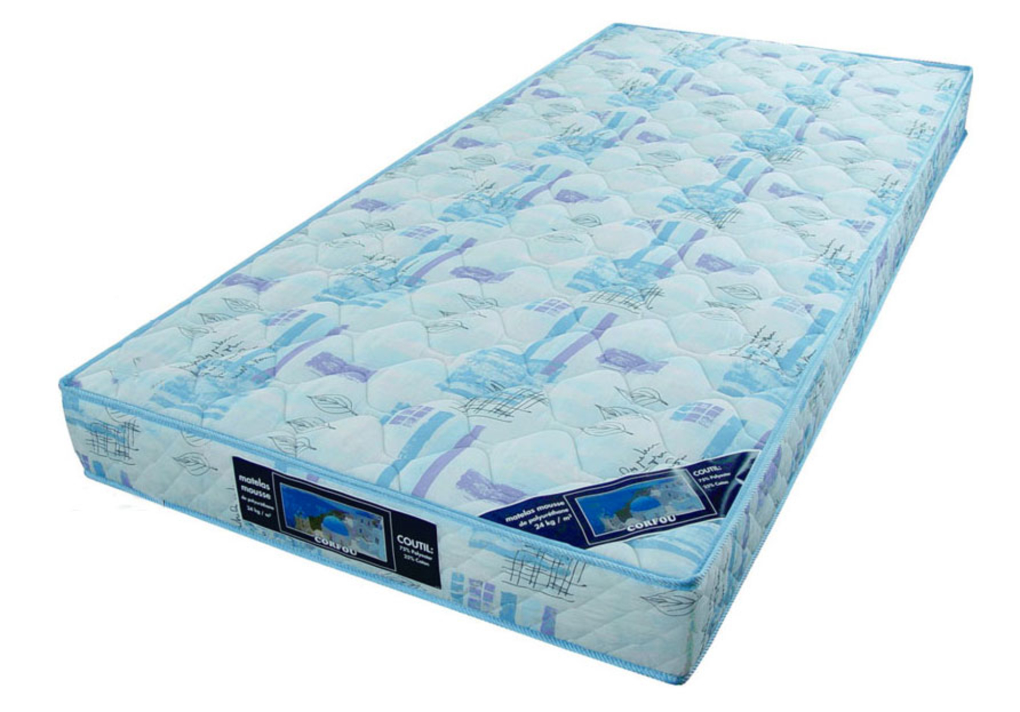 matelas mousse corfou 90 x 190 frais de traitement de commande offerts acheter ce produit. Black Bedroom Furniture Sets. Home Design Ideas