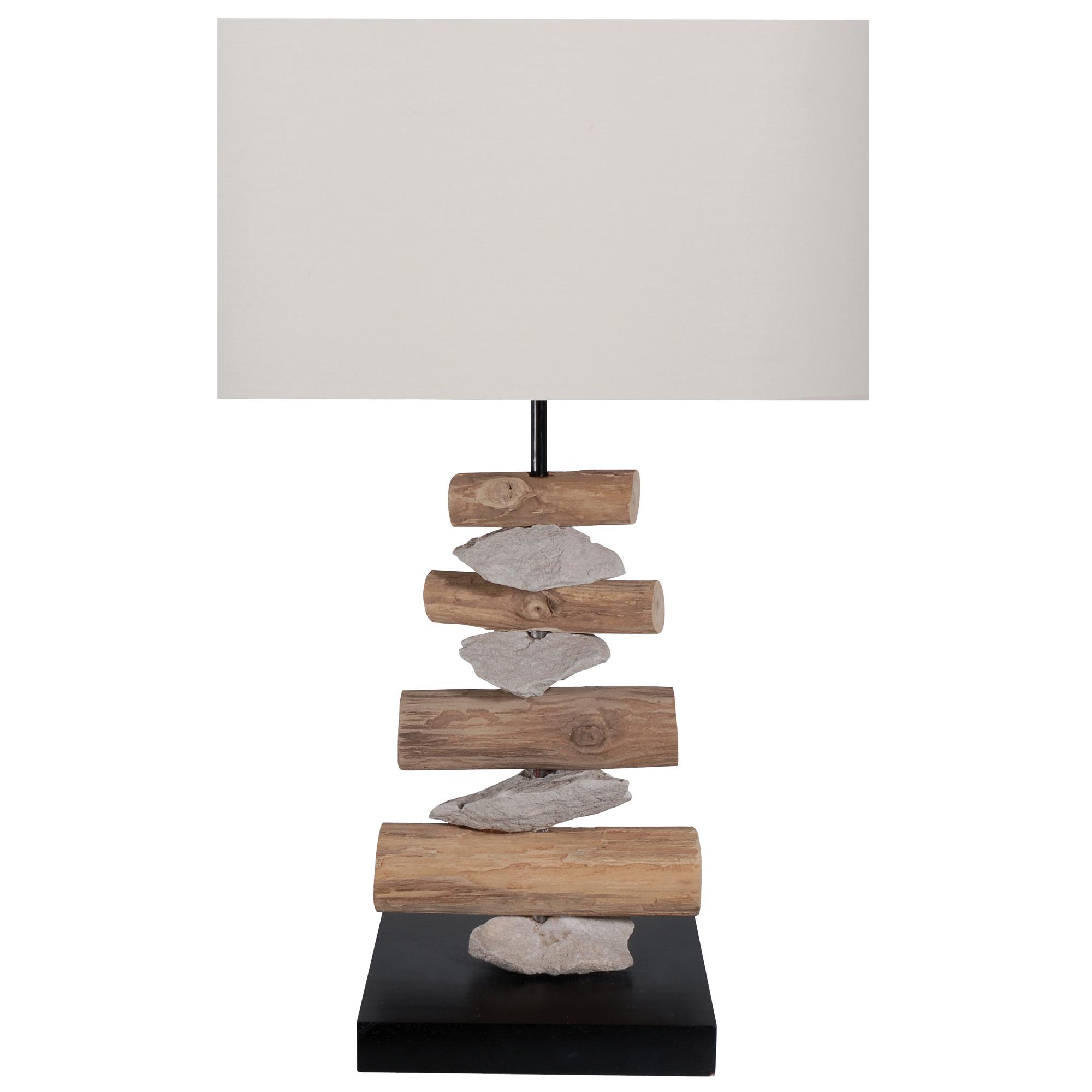 Lampe poser bois flott frais de traitement de for Lampe a poser bois