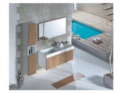 Ensemble de salle de bain sienna suspendu avec large plan for Largeur plan de travail salle de bain