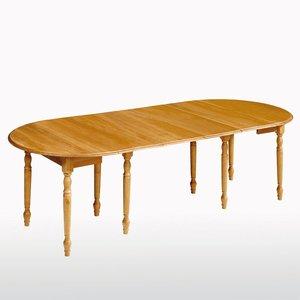 table ronde pin massif de 4 12 couverts acheter ce produit au meilleur prix. Black Bedroom Furniture Sets. Home Design Ideas