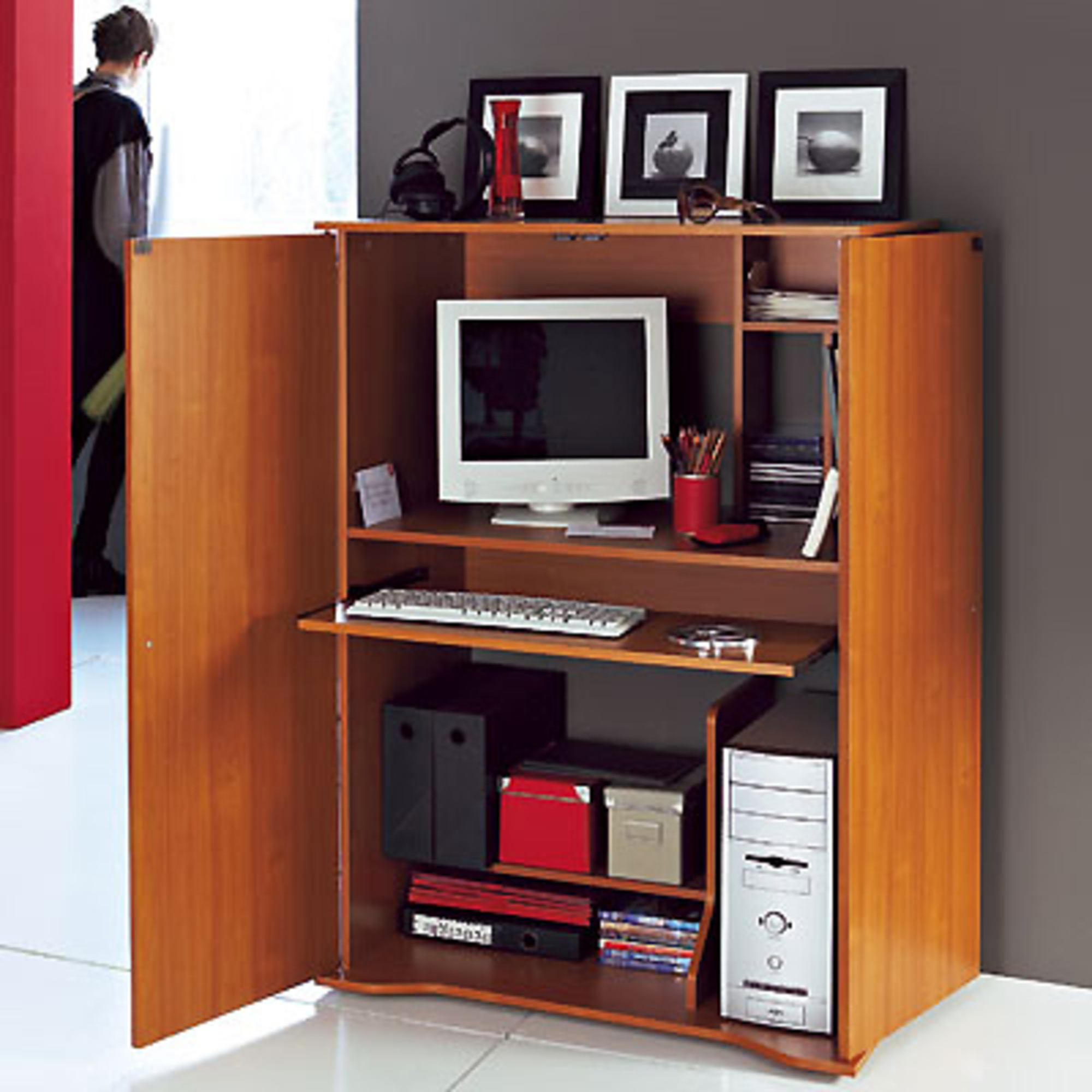 armoire bureau gigaoctet merisier anniversaire 40 ans. Black Bedroom Furniture Sets. Home Design Ideas