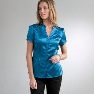 chemises La Martina en soldes,chemise manche courte satin femme,chemise 2  couleurs 8fad7e8080d1