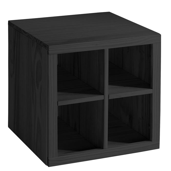Meuble carr 4 niches weng latitude frais de traitement for Ikea meuble 4 carre