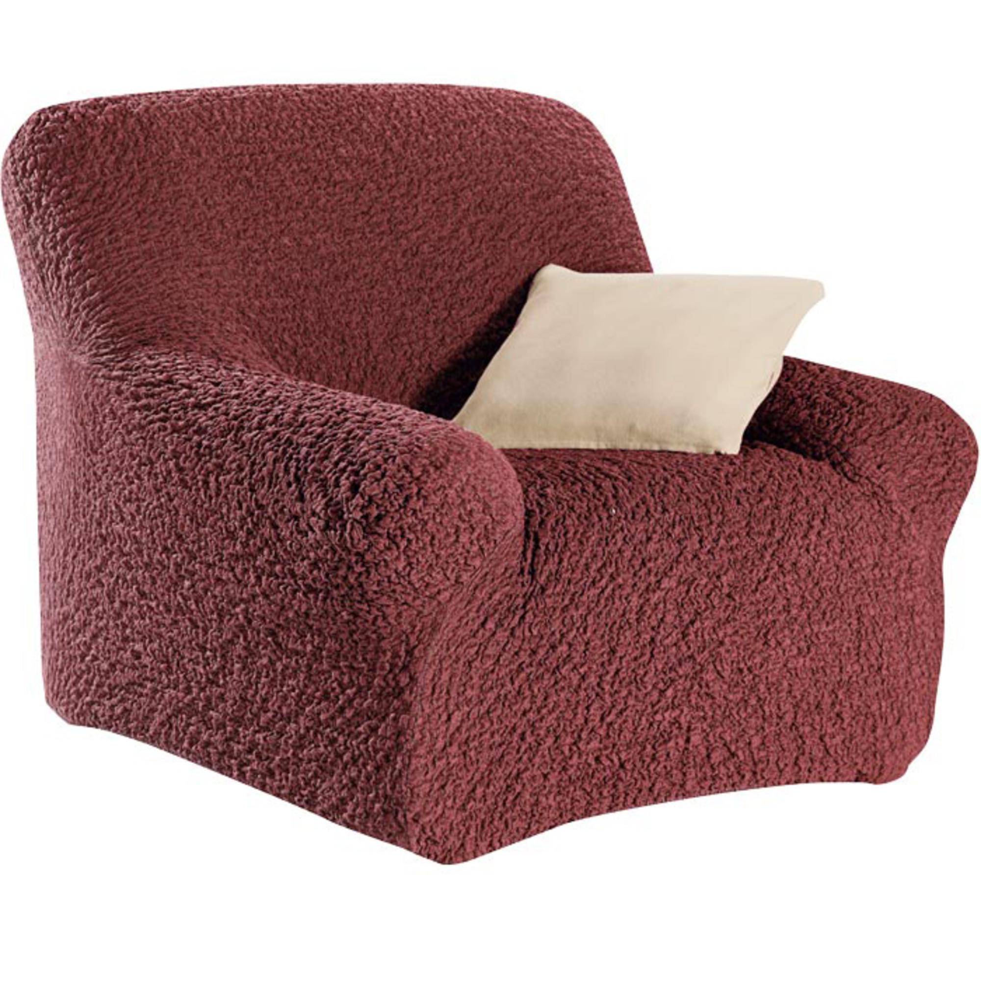 housse fauteuil gaufr e brio grenat acheter ce produit au meilleur prix. Black Bedroom Furniture Sets. Home Design Ideas