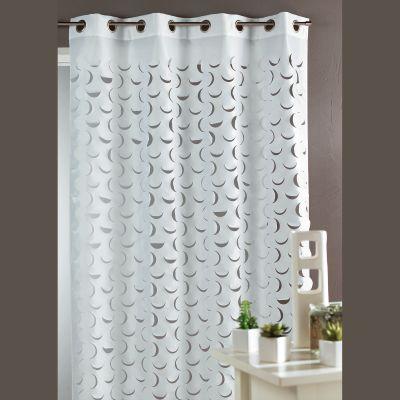 Rideau taffetas illets 6 coloris pour grandes fen tres en polyester polyami - Les trois suisses rideaux ...