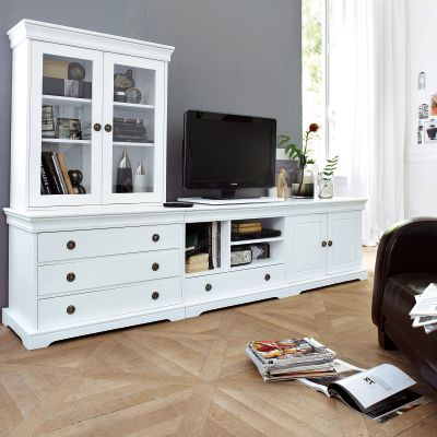 etag re biblioth que vitr e ad la de en pin teint. Black Bedroom Furniture Sets. Home Design Ideas