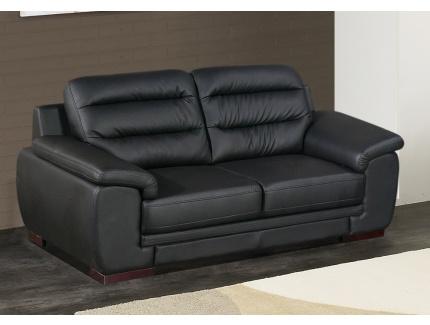 Canap 2 places simili cuir cardiff noir acheter ce produit au meilleur prix - Canape deux places cuir ...