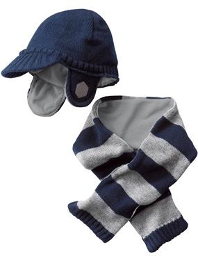 ec4d543f6ba9 Ensemble en tricot echarpe et bonnet bebe garcon vertbaudet ...