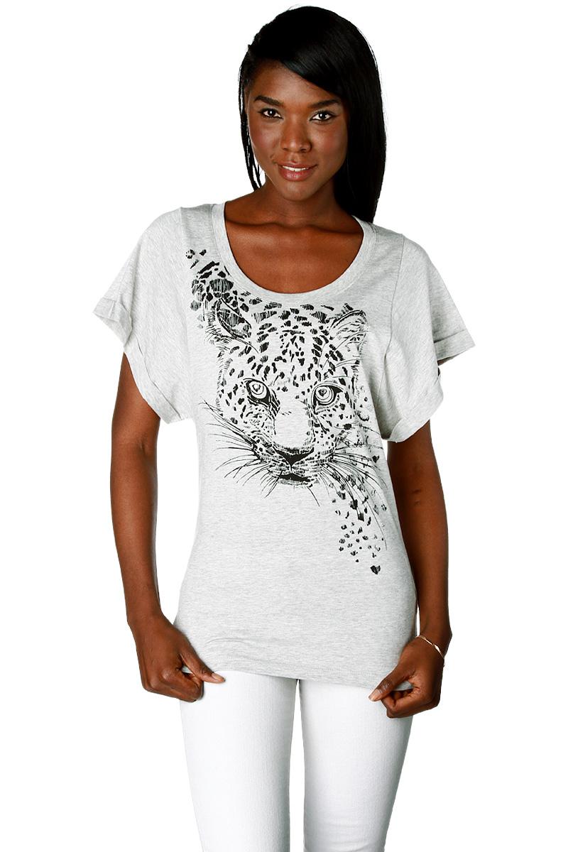 t shirt imprim t te de tigre en coton femme acheter ce produit au meilleur prix. Black Bedroom Furniture Sets. Home Design Ideas