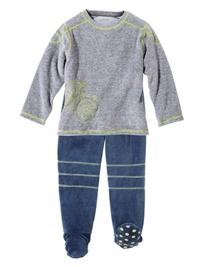 pyjama garcon en velours avec pieds vertbaudet acheter. Black Bedroom Furniture Sets. Home Design Ideas