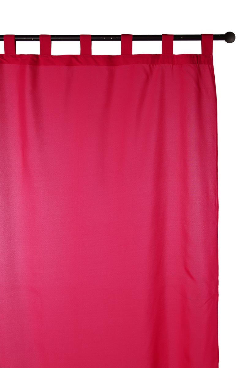 rideau passants 140 x 260 cm fushia acheter ce produit au meilleur prix. Black Bedroom Furniture Sets. Home Design Ideas
