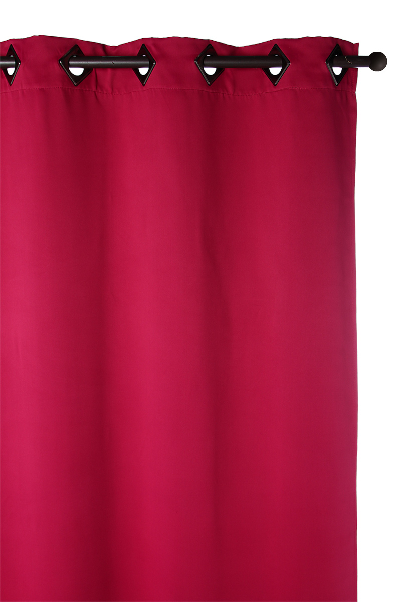 rideau de couleur framboise photo. Black Bedroom Furniture Sets. Home Design Ideas