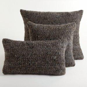 Housse de coussin tricot knitty marron chin acheter ce - Housse de coussin en tricot ...