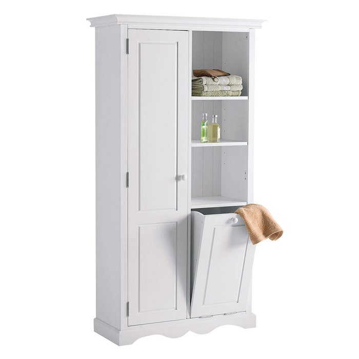 armoire bac linge en mdf blanc orcanta l armoire orcanta. Black Bedroom Furniture Sets. Home Design Ideas