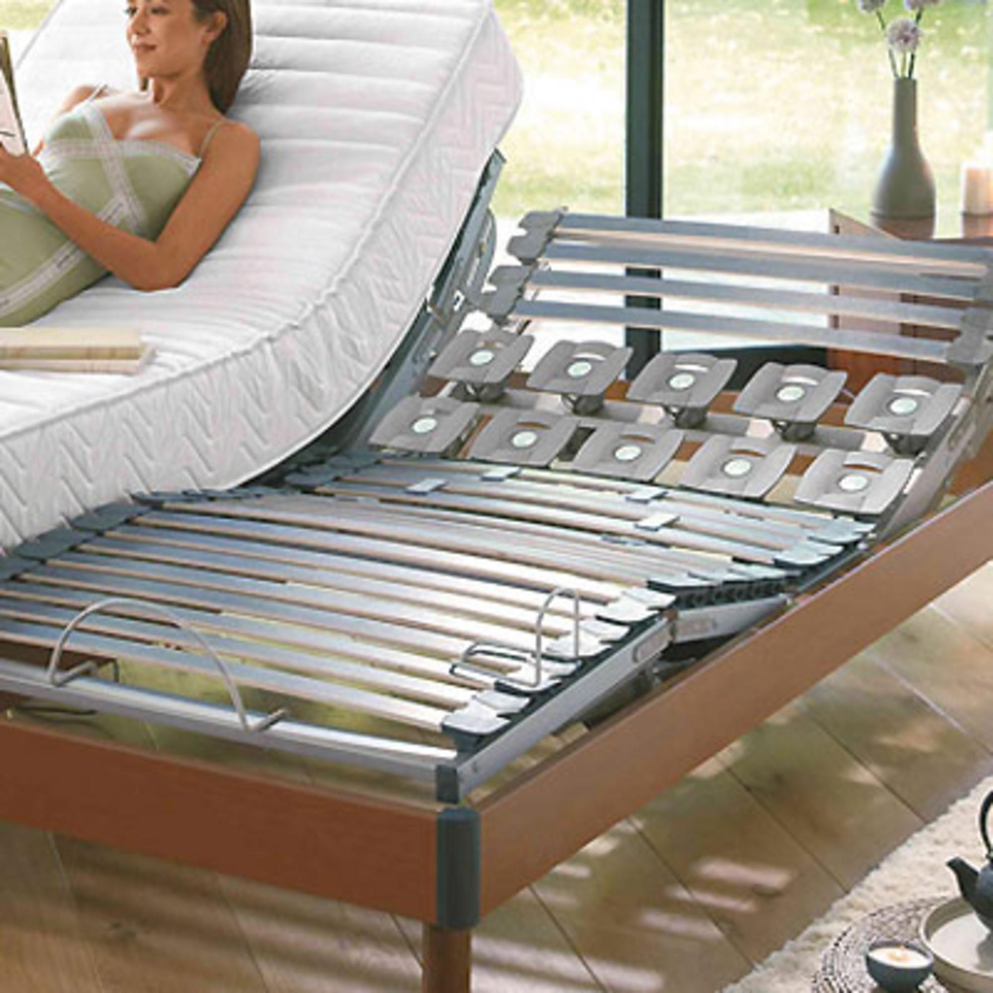 sommier bois de relaxation lectrique lattes 90 x 190 anniversaire 40 ans acheter ce. Black Bedroom Furniture Sets. Home Design Ideas