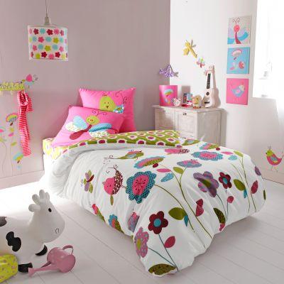 parure housse de couette matin jardin de selene et gaia en pur coton acheter ce produit au. Black Bedroom Furniture Sets. Home Design Ideas