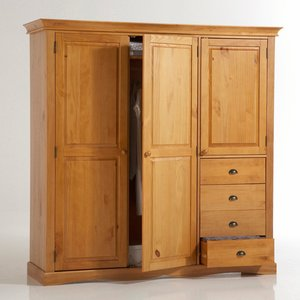 armoire penderie ling re pin massif soninke pictures to. Black Bedroom Furniture Sets. Home Design Ideas