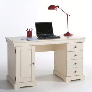 bureau en pin massif 2 caissons acheter ce produit au meilleur prix. Black Bedroom Furniture Sets. Home Design Ideas