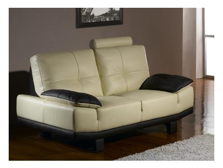 canap 3 places cro te de cuir baggio ii bicolore acheter ce produit au meilleur prix. Black Bedroom Furniture Sets. Home Design Ideas