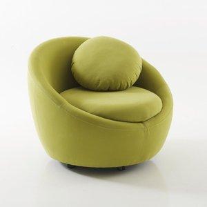 fauteuil rond pivotant en tissu coton brett acheter ce. Black Bedroom Furniture Sets. Home Design Ideas