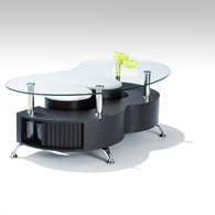 Le lit de vos r ves table basse en verre avec pouf noir - Table basse en verre avec pouf ...