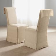 Housse de chaise revers 100 lin acheter ce produit au - Housse chaise lin ...