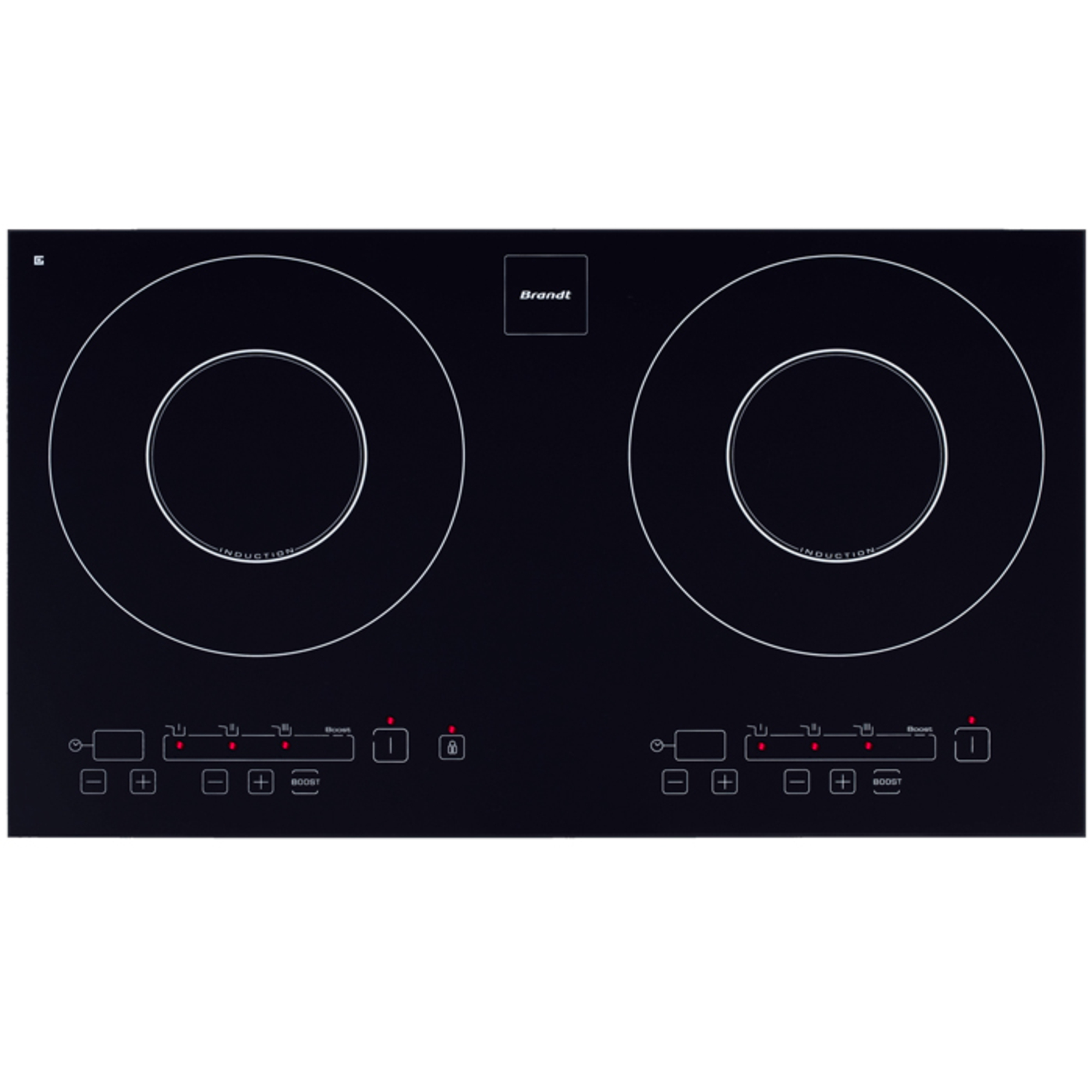 Table induction 2 foyers encastrable - Table de cuisson induction 2 foyers a poser ...