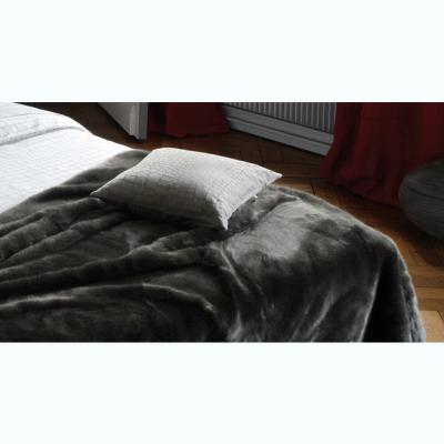 couvre lit alezan graphite 130x180 acheter ce produit au meilleur prix. Black Bedroom Furniture Sets. Home Design Ideas