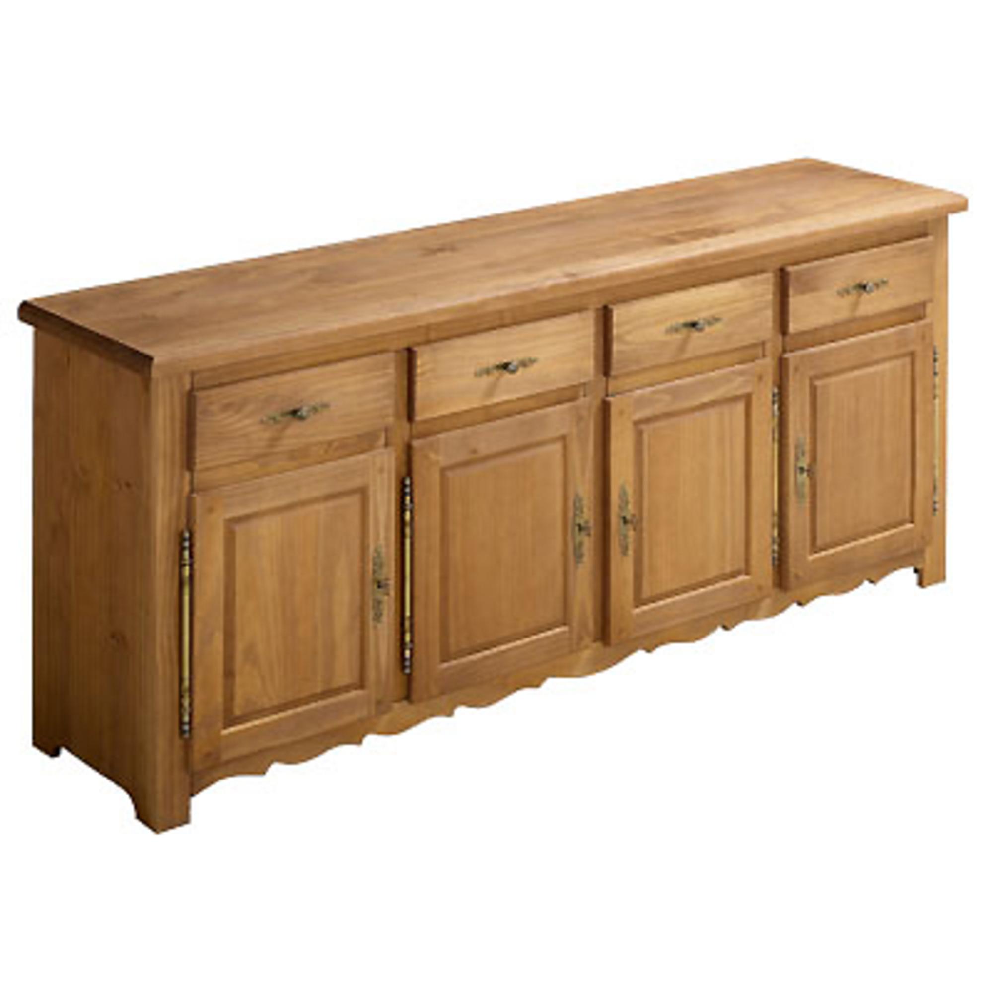buffet bas 4 portes 4 tiroirs sologne ch ne dor anniversaire 40 ans acheter ce produit au. Black Bedroom Furniture Sets. Home Design Ideas
