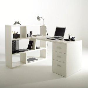 bureau r versible avec biblioth que 2 coloris acheter ce produit au meilleur prix. Black Bedroom Furniture Sets. Home Design Ideas