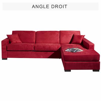 Canap d 39 angle convertible mousse m moire de forme tissu presto achet - Couverture canape d angle ...