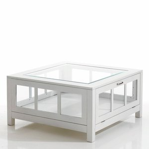 Table basse vitrine pin baule acheter ce produit au for Table basse vitrine