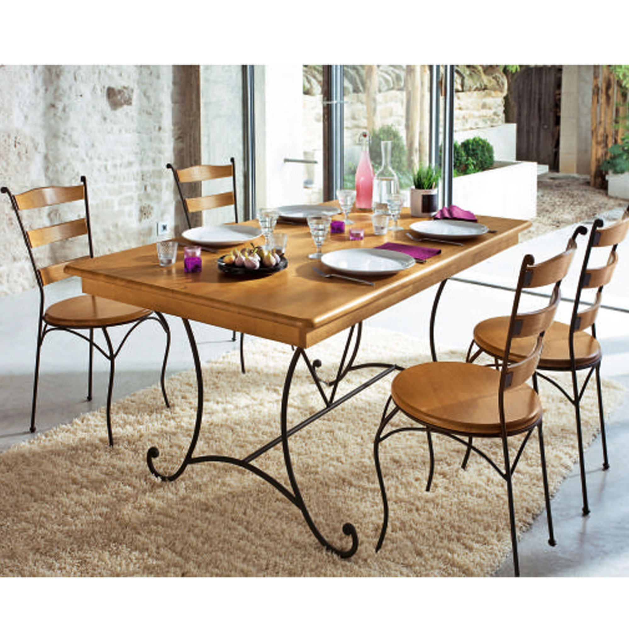 table rectangulaire 4 chaises preston ch ne clair anniversaire 40 ans acheter ce produit. Black Bedroom Furniture Sets. Home Design Ideas