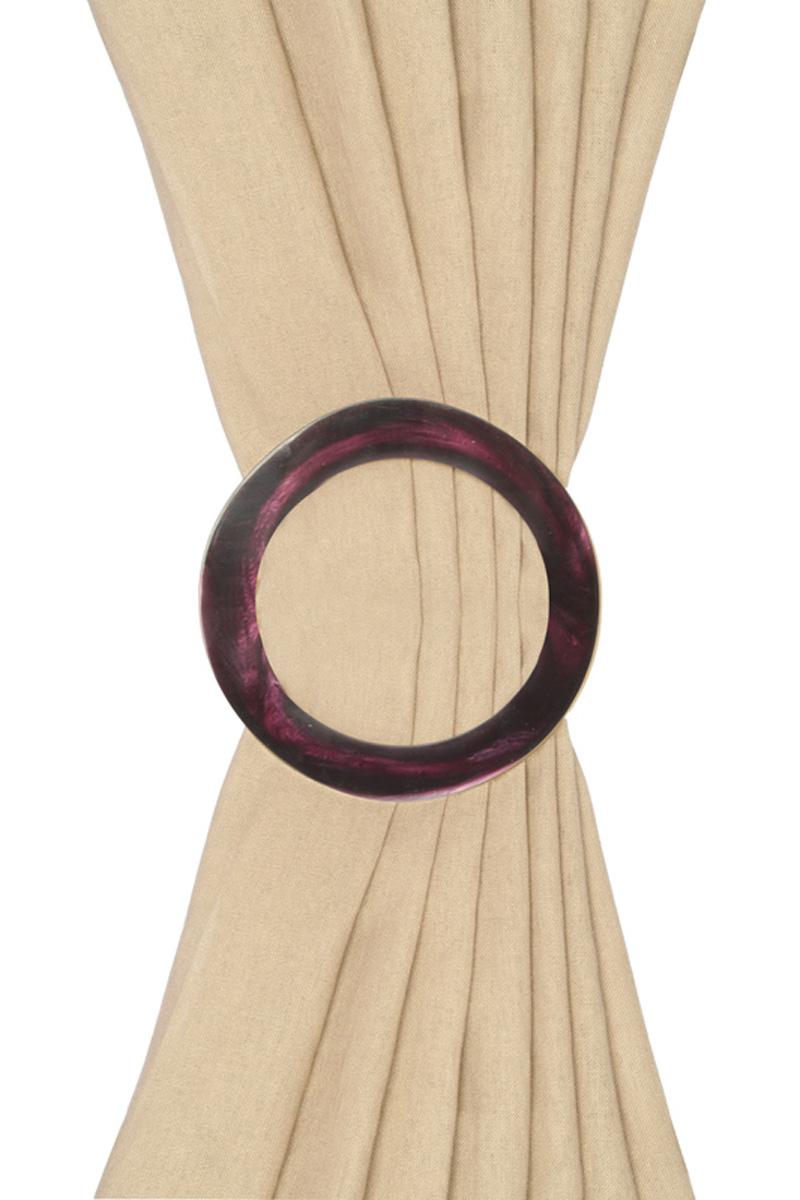 embrasse broche rideaux prune diam tre 13 cm acheter ce produit au meilleur prix. Black Bedroom Furniture Sets. Home Design Ideas