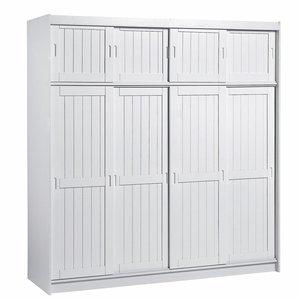 Armoire 4 portes penderie ling re h208 cm adagio acheter ce produit au meilleur prix - Armoire penderie lingere ...
